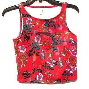 🍍3/$24 Decree Peep Hole Floral Design Crop Top
